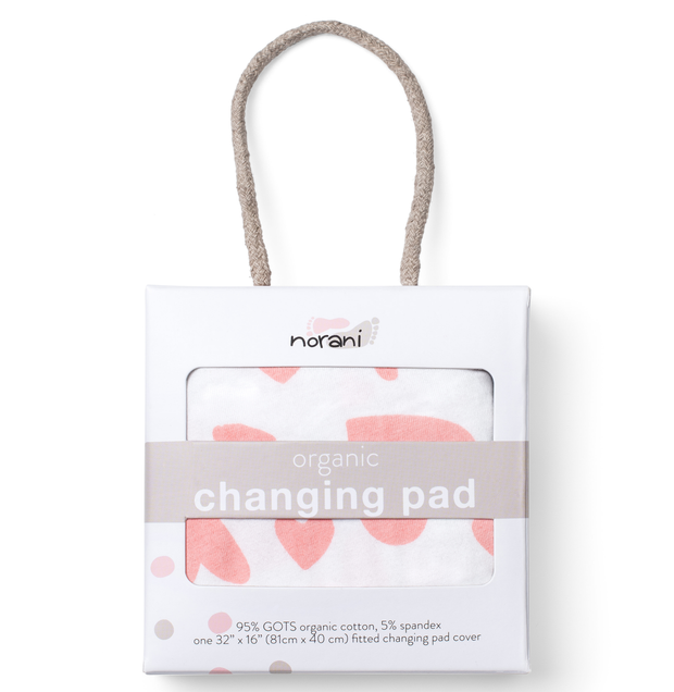 'I Heart You' Changing Pad Cover 1