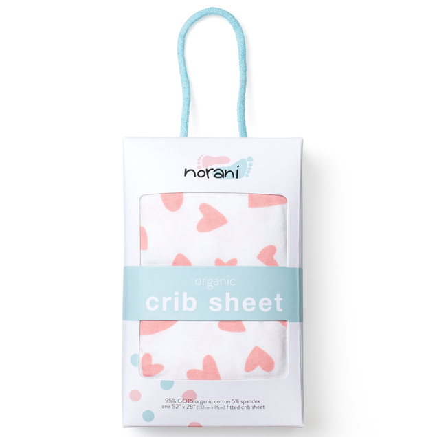 'I Heart You' Fitted Crib Sheet 1