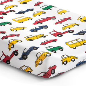 Norani Baby Fitted Changing Pad Cover- Colorful Cars