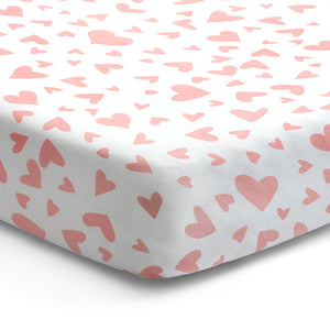 'I Heart You' Fitted Crib Sheet