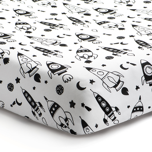 'Out of this World' Rockets Fitted Crib Sheet