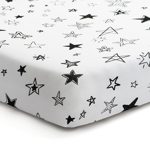 'Reach for the Stars' Fitted Crib Sheet