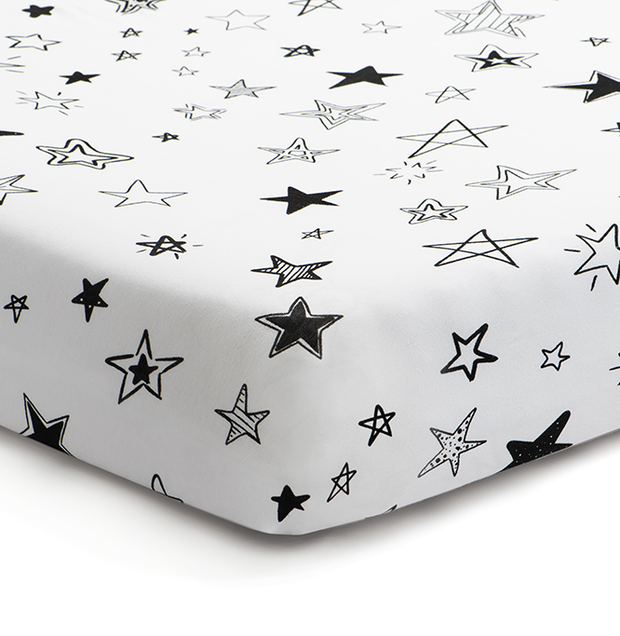 'Reach for the Stars' Fitted Crib Sheet 1