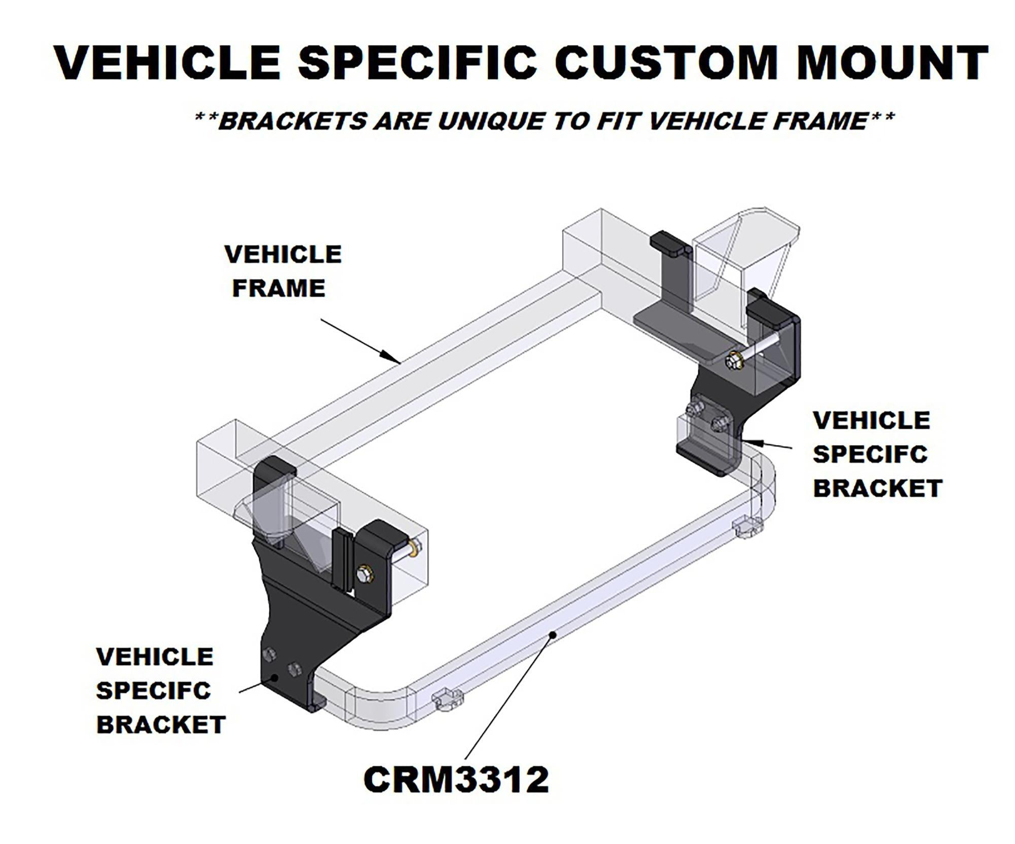 Snow Plow Custom Mount #  83008