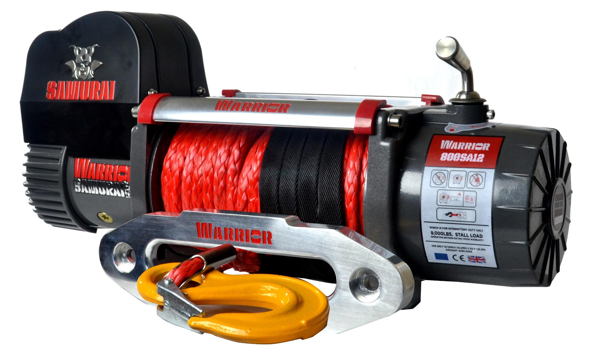 8,000 LB Samurai Series Planetary Gear Winch (Synthetic Rope) - S8000-SR
