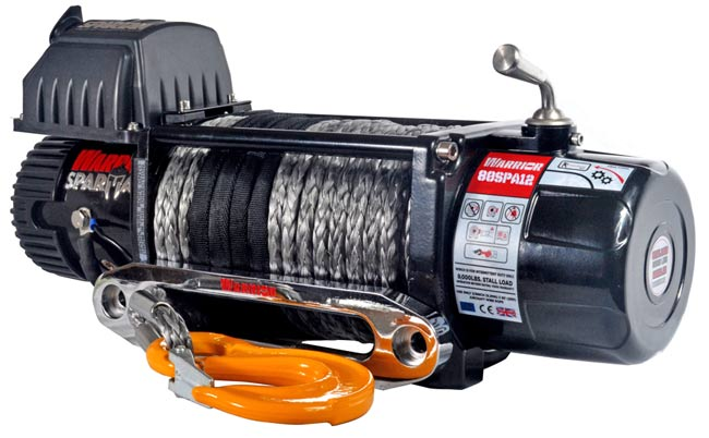 8,000 LB Spartan Series Planetary Gear Winch with synthetic rope - 8000-SR