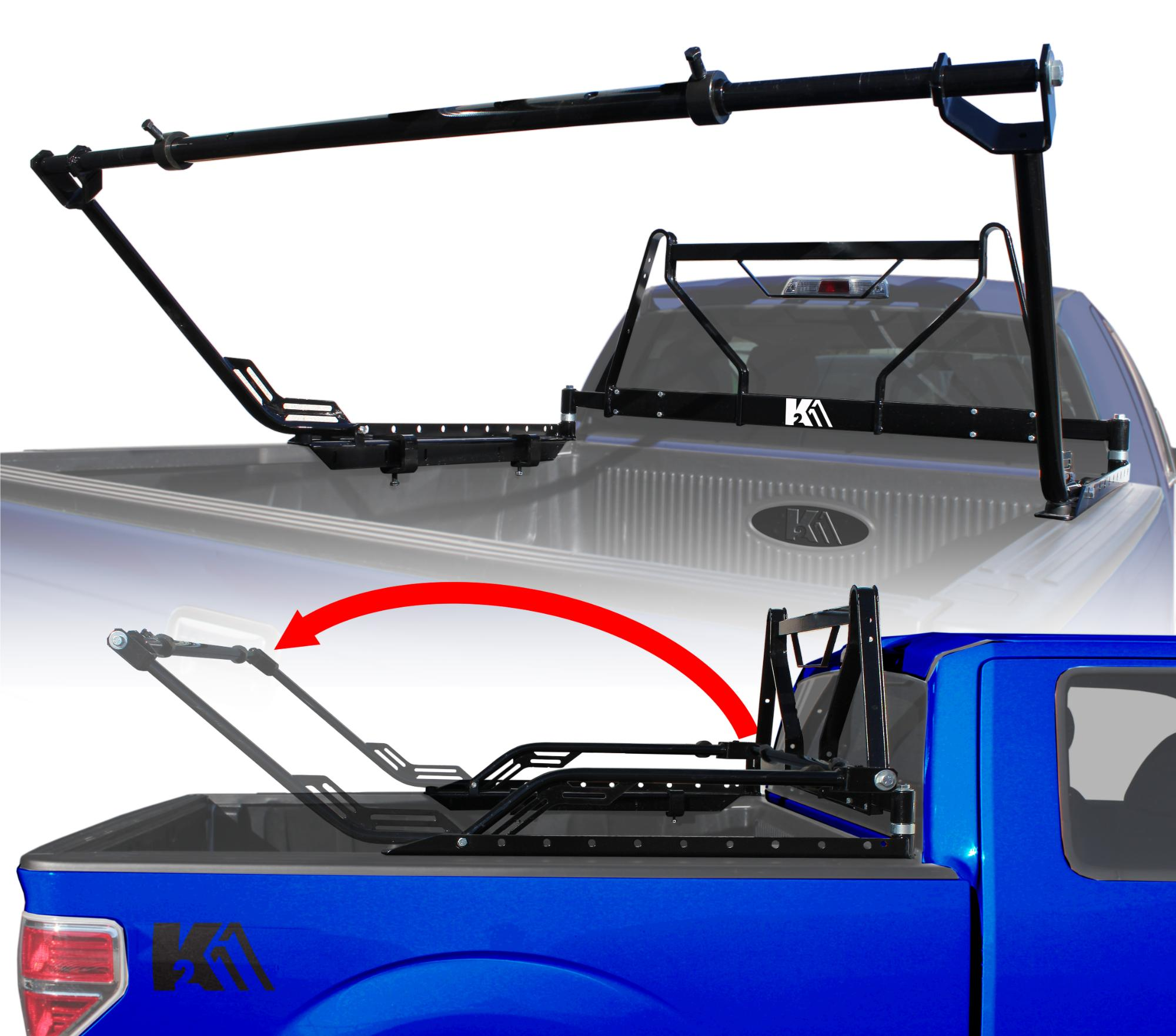 Flip Out Truck Rack with Integrated Window Guard - TFR150