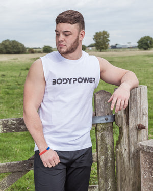BodyPower Muscle Tank Top - White