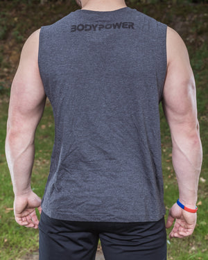 BodyPower Muscle Tank Top - Grey