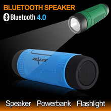 Outdoor Stereo Wireless Speaker Bluetooth Column With LED Flashlight FM Radio TF Card MP3 Playback 4000mAh Battery - Gadget and gear guru