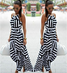 Stripe Maxi Long dresses
