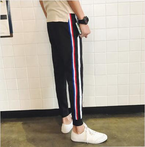men's casual Black Harem Breathable Pants