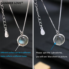 Sterling Silver Labradorite Pendant Necklace Fine Jewelry Nature  Handmade