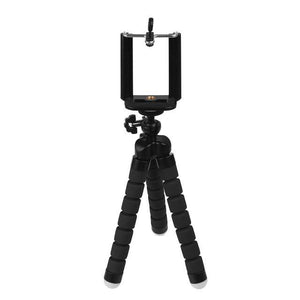 Mini Portable Flexible Tripod with Phone Holder Bracket