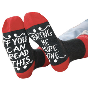 Women Men Unisex Adult If You Can Letter Print Cute Knit Mid Long Socks - Gadget and gear guru