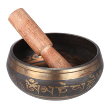 Tibetan bell sing bowl and striker