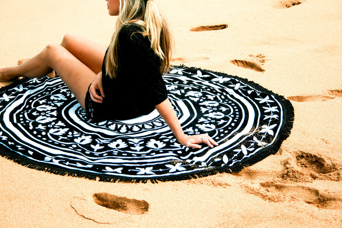 Beautiful Round Mandala Roundie Yoga Mat