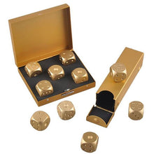 Load image into Gallery viewer, Aluminum Alloy Metal Gold Dice