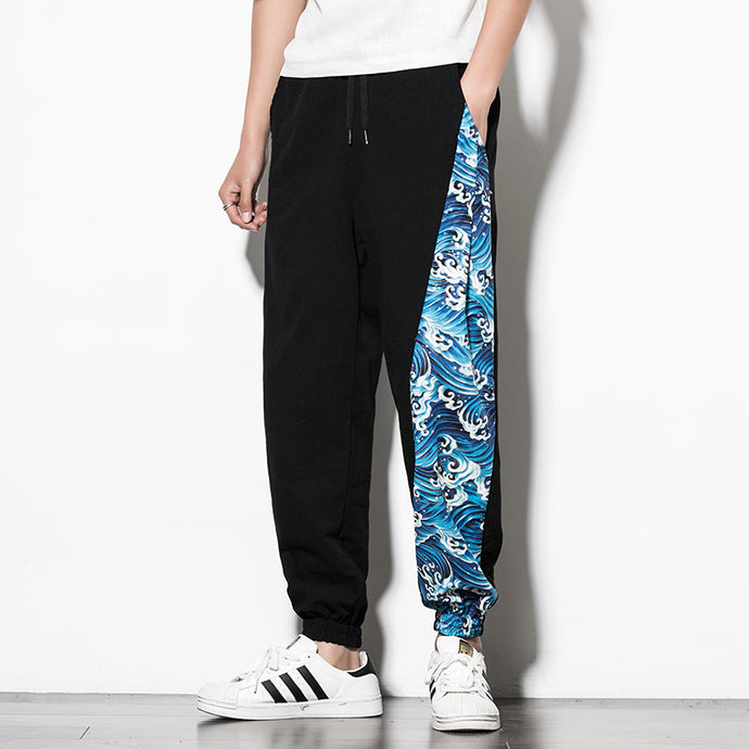 Mens baggy cotton joggers