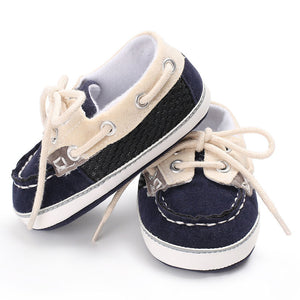 just like dad, baby boat shoes