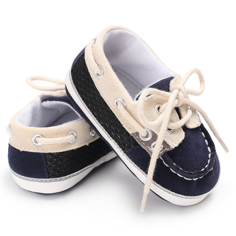 just like dad, baby boat shoes - FREE