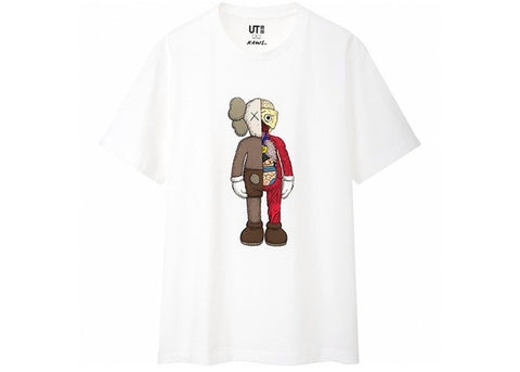 Kaws x Uniqlo Flayed Tee - White