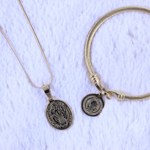 St. Benedict Bangle and Necklace Bundle - Orig Pinas