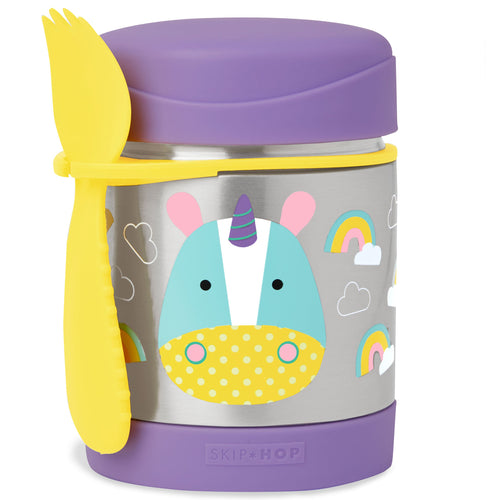 Zoo Insulated Little Kid Food Jar - Multi Front