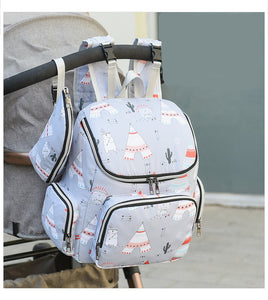 Mommy Tribe Diaper Bag Pack - Grey - Stroller straps