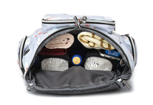 Mommy Tribe Diaper Bag Pack - Grey - Inside view