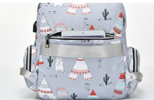 Mommy Tribe Diaper Bag Pack - Grey - Front pocket