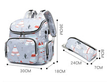 Mommy Tribe Diaper Bag Pack - Grey - Size