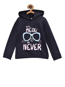Meow or Never Hooded Sweatshirt