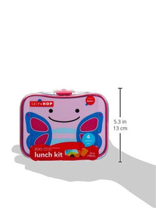 Zoo 4 Piece Lunch Kit - Pink & Blue Dimensions