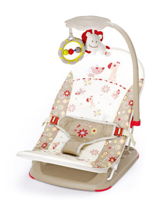Fold up infant seat (Brown) Diagonal full view