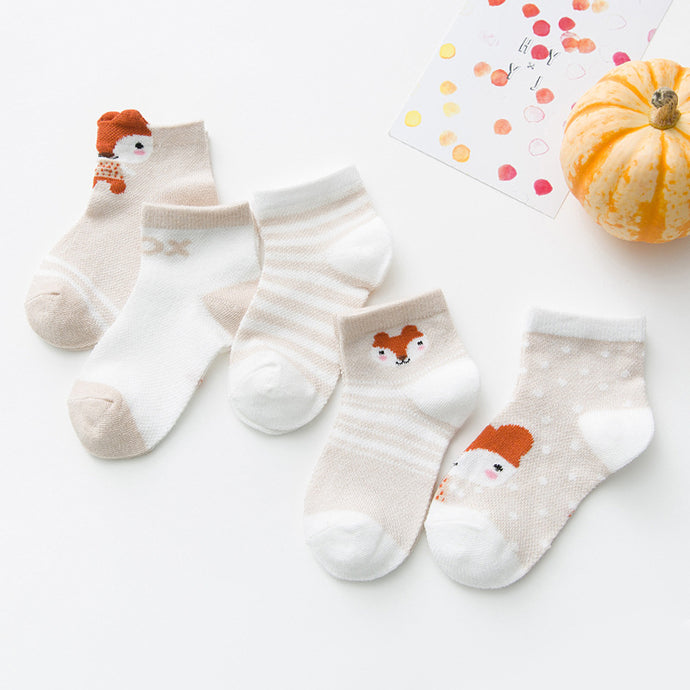 Little Red Fox- Baby Socks (5 Pairs)
