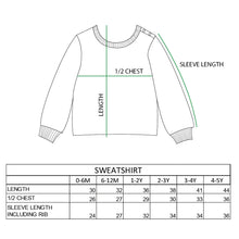 Sweatshirt Measurement Chart