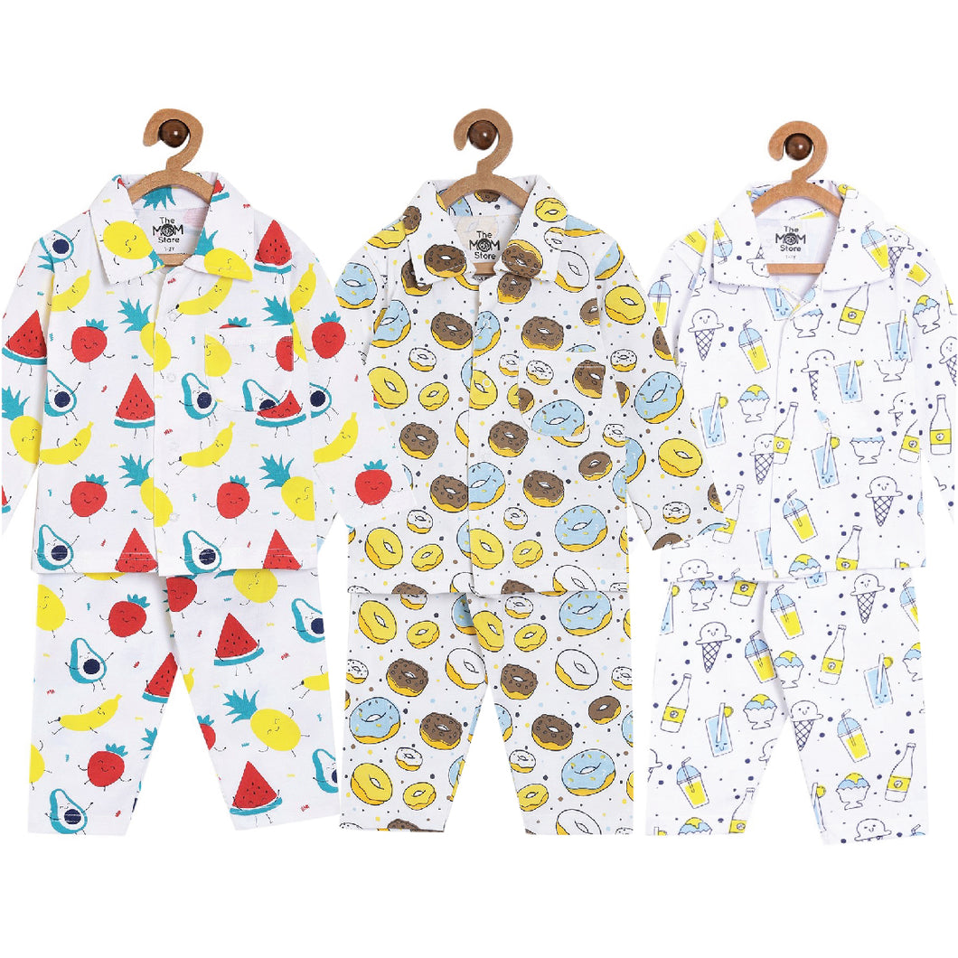 Pajama Set Combo of 3: Fruity Cutie-Sweet like a Doughnut-My Smoothie
