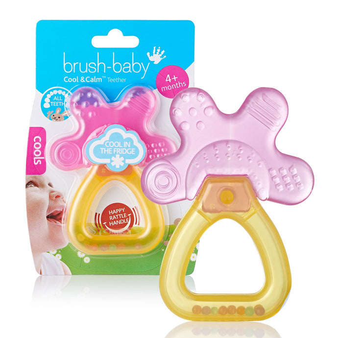 Brush Baby - Cool & Calm Teether - Pink/Orange