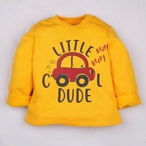 Fleeced Lined Winter Sweatshirt- Little Cool Dude