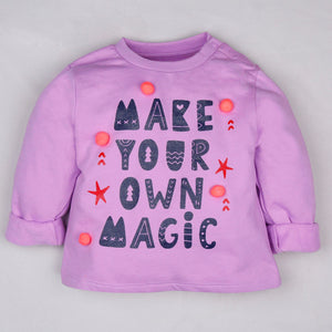 Fleeced Lined Winter Sweatshirt- Make Your Own Magic