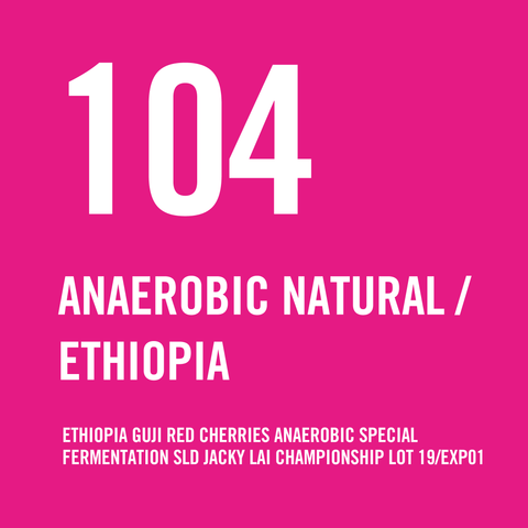 Ethiopia Guji Red Cherries Anaerobic Special Fermentation SLD Jacky Lai Championship Lot 19/EXP01 Natural 200g