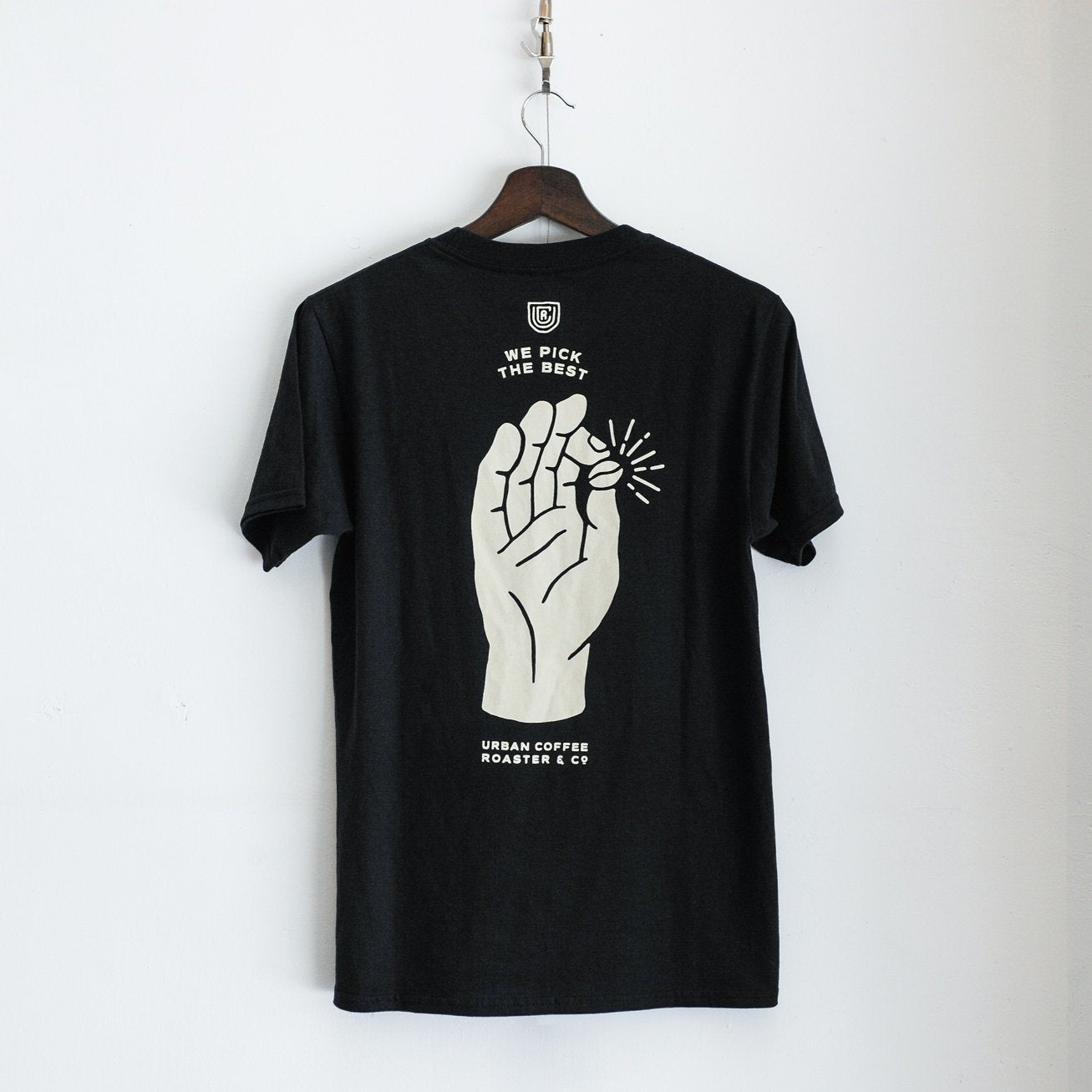 UCR We Pick The Best T-SHIRT (Black) - Urban Coffee Roaster
