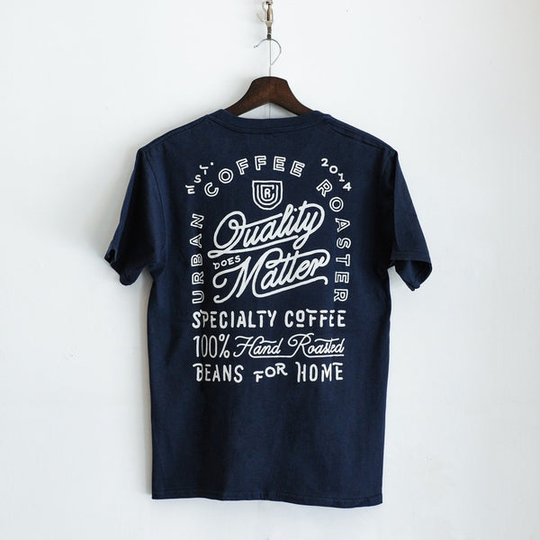 UCR Quality Does Matter T-SHIRT (Navy) - Urban Coffee Roaster