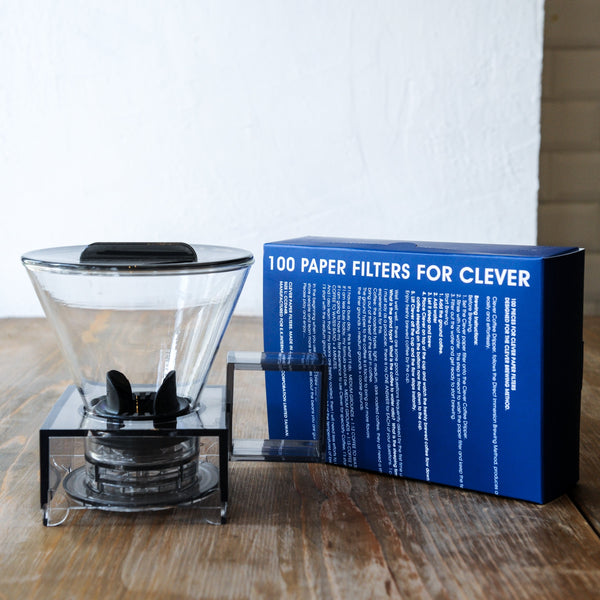Clever Grace Coffee Dripper and Filter paper (Large) Set