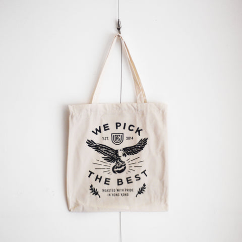UCR We Pick The Best Tote Bag - Urban Coffee Roaster