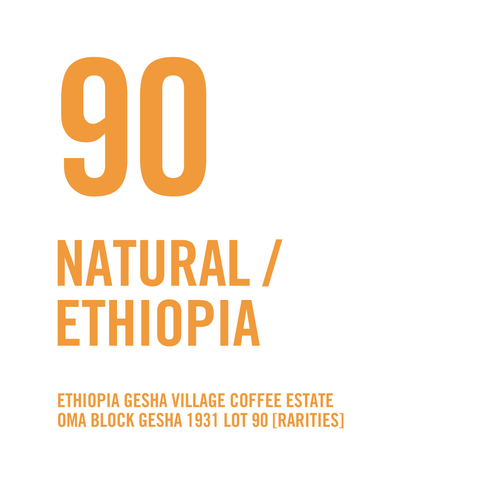 Ethiopia Gesha Village Coffee Estate Oma Block Gesha 1931 Lot 90 [Rarities] Natural 100g