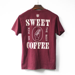 UCR Sweet Coffee T-SHIRT (Maroon) - Urban Coffee Roaster