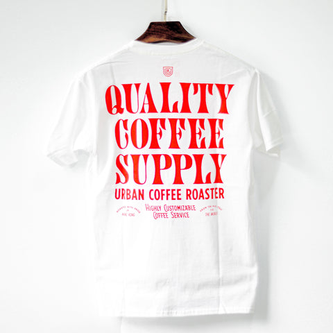UCR Quality Coffee Supply T-SHIRT (White) - Urban Coffee Roaster