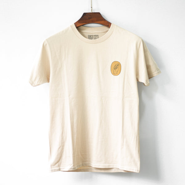 UCR Sweet Coffee T-SHIRT (Beige) - Urban Coffee Roaster